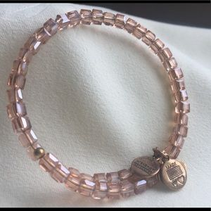 Alex and Ani blush Swarovski crystal wrap bracelet